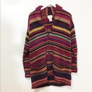 Vintage / wool striped cardigan
